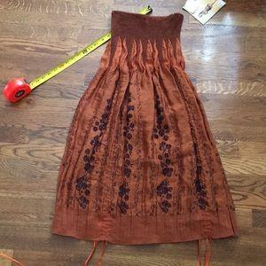 NWT LAPIS boho convertible dress skirt